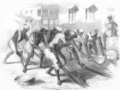Mehtahs or street-sweepers in Calcutta Illustrated London News 1860