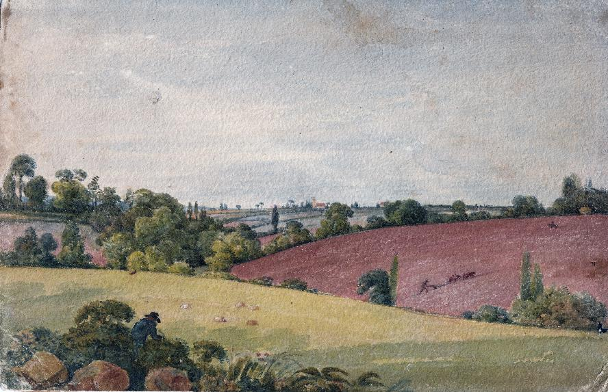 George Cumberland (1754-1848), View from Mr Gutch's villa, view of St Georges Church Bristol