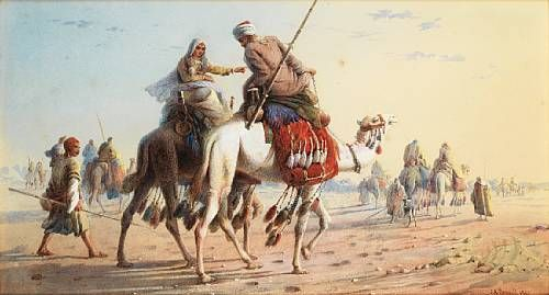 Bedouin Caravan in the Desert