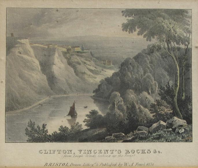 Clifton, Vincent's Rocks 1831