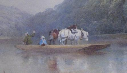 Goodrich castle figures- ferry on the Wye