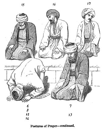 Postures of Muslim prayer Edward William Lane