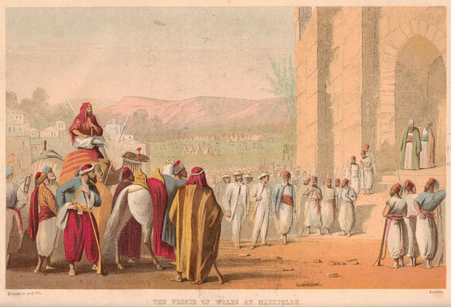 The Prince of Wales at Machpelah, 1862 Israel